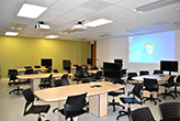 Salle d'apprentissage actif au Pavillon Paul-Comtois, local 3108